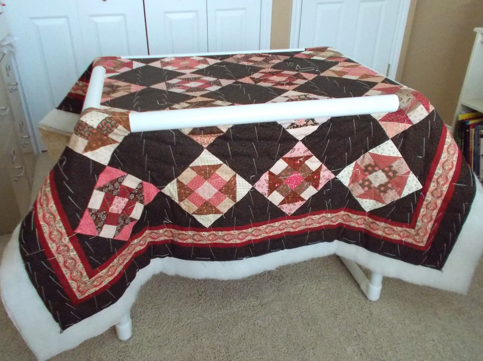 this size was created by demand for those who cover a lot of ... : quilt basting frame - Adamdwight.com